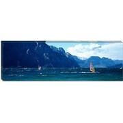iCanvas Panoramic Windsurfing on a Lake, Lake Garda, Italy Photographic Print on Canvas