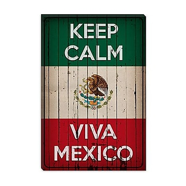 iCanvas Keep Calm and Viva Mexico Graphic Art on Canvas; 40'' H x 26'' W x 0.75'' D
