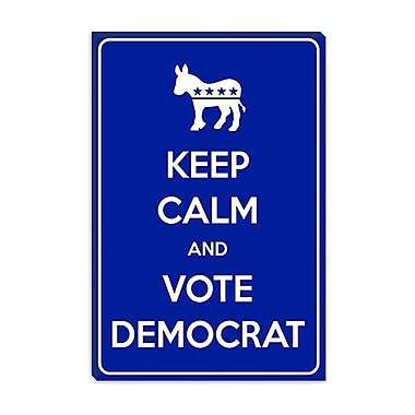 iCanvas Keep Calm and Vote Democrat Graphic Art on Canvas; 26'' H x 18'' W x 1.5'' D