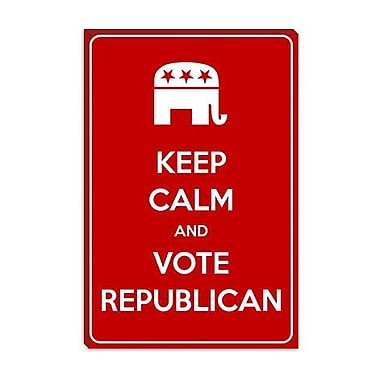 iCanvas Keep Calm and Vote Republican Graphic Art on Canvas; 26'' H x 18'' W x 1.5'' D