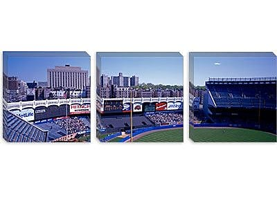 iCanvas Panoramic Yankee Stadium NY Photographic Print on Canvas; 12'' H x 36'' W x 0.75'' D