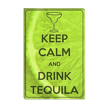 iCanvas Keep Calm and Drink Tequila Graphic Art on Canvas; 26'' H x 18'' W x 1.5'' D