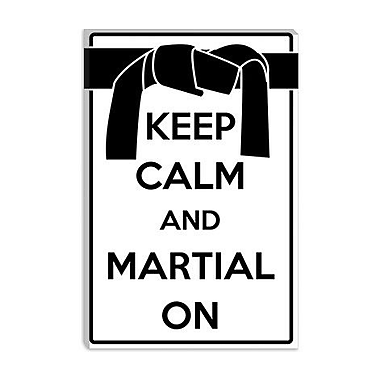 iCanvas Keep Calm and Martial on Graphic Art on Canvas; 18'' H x 12'' W x 1.5'' D