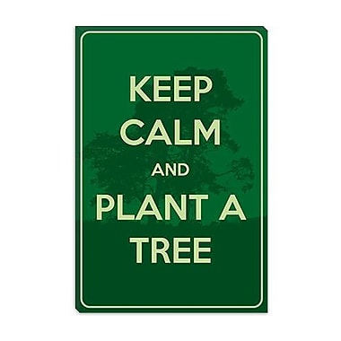 iCanvas Keep Calm and Plant a Tree Textual Art on Canvas; 60'' H x 40'' W x 1.5'' D