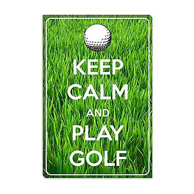 iCanvas Keep Calm and Play Golf Graphic Art on Canvas; 12'' H x 8'' W x 0.75'' D