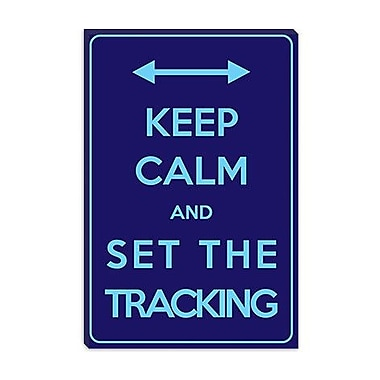 iCanvas Keep Calm and Set the Tracking Textual Art on Canvas; 18'' H x 12'' W x 0.75'' D
