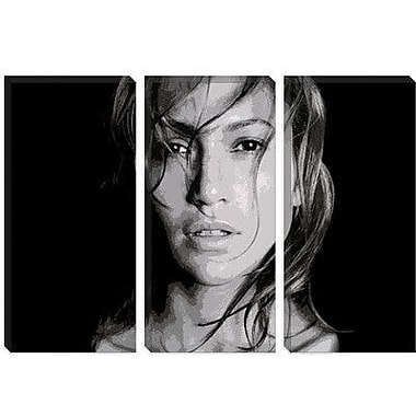 iCanvas Pop Art Jennifer Lopez Photographic Print on Canvas; 40'' H x 60'' W x 1.5'' D