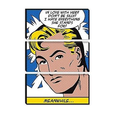 iCanvas 'In Love w/ Her' by Roy Lichtenstein Graphic Art on Canvas; 18'' H x 12'' W x 1.5'' D