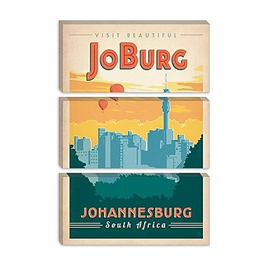 'JoBurg - Johannesburg, South Africa' by Anderson Design Group Vintage Advertisement on Canvas