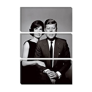 iCanvas Political John and Jackie Kennedy Portrait Photographic Print on Canvas