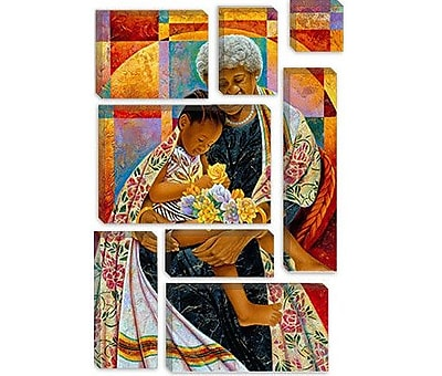 iCanvas 'In Grandmas Hands' by Keith Mallett Graphic Art on Canvas; 40'' H x 26'' W x 1.5'' D