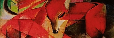 iCanvas 'The Fox Panoramic' by Franz Marc Painting Print on Canvas; 30'' H x 90'' W x 1.5'' D