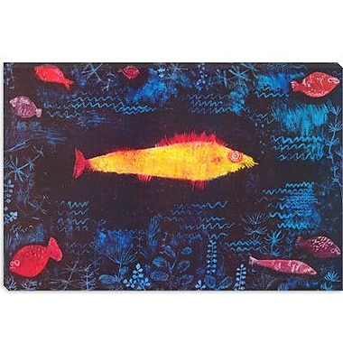 iCanvas 'The Golden Fish' by Paul Klee Painting Print on Canvas; 18'' H x 26'' W x 1.5'' D
