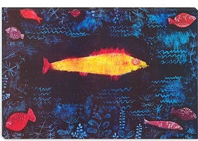 iCanvas 'The Golden Fish' by Paul Klee Painting Print on Canvas; 40'' H x 60'' W x 1.5'' D