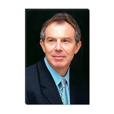 iCanvas Political Tony Blair on Photographic Print on Canvas; 26'' H x 18'' W x 1.5'' D