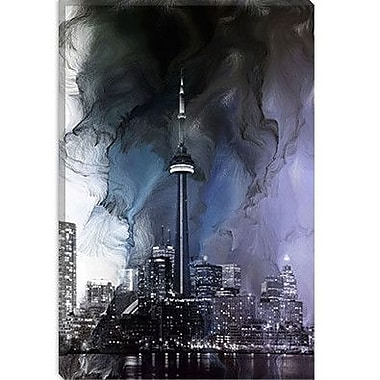iCanvas Toronto, Canada Tower 2 Graphic Art on Canvas; 60'' H x 40'' W x 1.5'' D