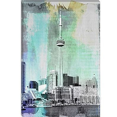 iCanvas Toronto, Canada Tower 4 Graphic Art on Canvas; 40'' H x 26'' W x 0.75'' D