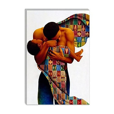 iCanvas ''Sheltering Love'' by Keith Mallett Graphic Art on Canvas; 26'' H x 18'' W x 0.75'' D