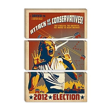 iCanvas 'Attack of the Conservative' by Anderson Design Group Vintage Advertisement on Canvas