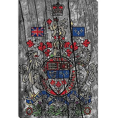 iCanvas Canada, Coat of Arms #7 Graphic Art on Canvas; 26'' H x 18'' W x 1.5'' D