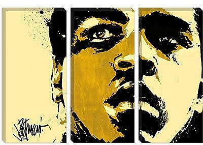 iCanvas 'Eyes of the World' by Muhammad Ali Painting Print on Canvas; 18'' H x 26'' W x 0.75'' D