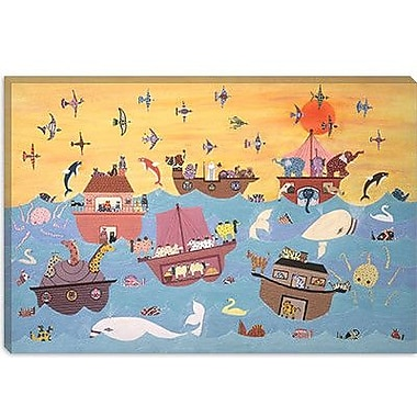 iCanvas 'Noah's Ark I' by David Sheskin Painting Print on Canvas; 18'' H x 26'' W x 0.75'' D