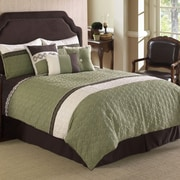 Hallmart Collectibles Frontera 7 Piece Comforter Set; Queen