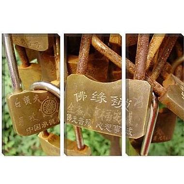 iCanvas Buddhist Locks At Puning Photographic Print on Canvas; 12'' H x 18'' W x 0.75'' D