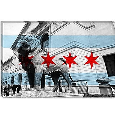 iCanvas Chicago Flag, Art Institute of Chicago Graphic Art on Canvas; 26'' H x 40'' W x 1.5'' D
