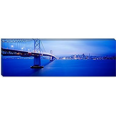 iCanvas Panoramic Bay Bridge San Francisco, California Photographic Print on Canvas