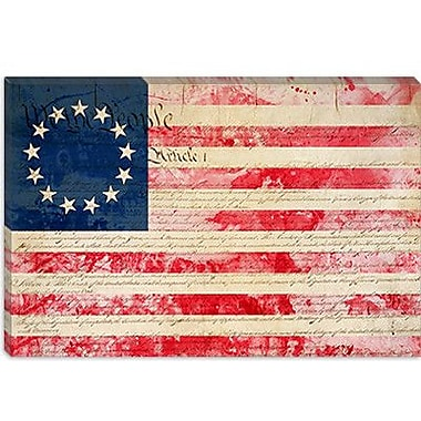 iCanvas Flags Betsy Ross, U.S. Flag 13 Stars Graphic Art on Canvas; 40'' H x 60'' W x 1.5'' D