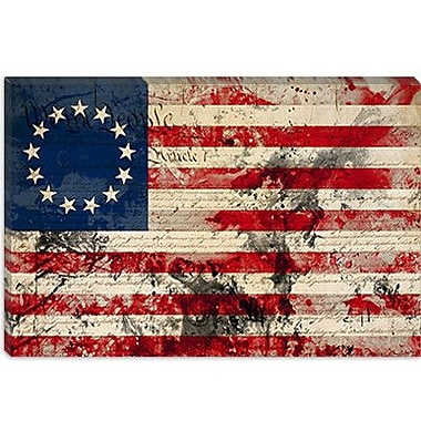 iCanvas Betsy Ross, U.S. Flag, Stars Graphic Art on Canvas; 18'' H x 26'' W x 1.5'' D