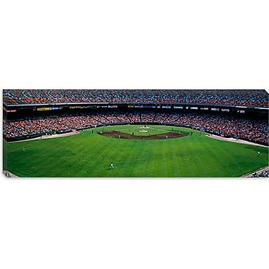iCanvas Panoramic Baseball Stadium in San Francisco, California Photographic Print on Canvas