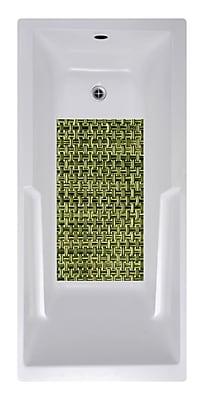 No Slip Mat by Versatraction 14 x 27 Woven Weave Bath Mat; Olive