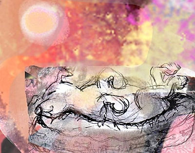 Evive Designs Sleeping Dog by Holly Mcgee Graphic Art