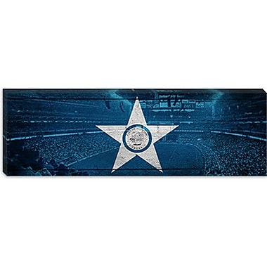 iCanvas Houston Flag, Reliant Stadium Panoramic Graphic Art on Canvas; 16'' H x 48'' W x 1.5'' D
