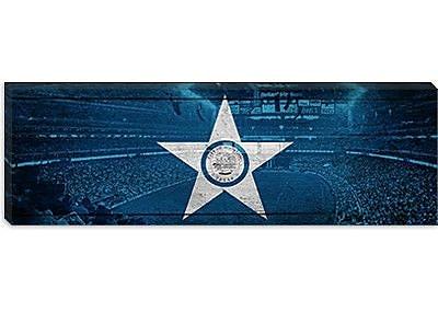 iCanvas Houston Flag, Reliant Stadium Panoramic Graphic Art on Canvas; 12'' H x 36'' W x 1.5'' D