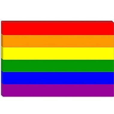 iCanvas Lesbian Rainbow Flag Graphic Art on Canvas; 12'' H x 18'' W x 0.75'' D