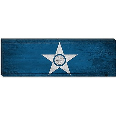 iCanvas Houston Flag, Panoramic Graphic Art on Canvas; 12'' H x 36'' W x 0.75'' D