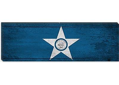 iCanvas Houston Flag, Panoramic Graphic Art on Canvas; 16'' H x 48'' W x 0.75'' D