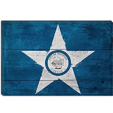iCanvas Houston Flag, w/ Splatters Graphic Art on Canvas; 26'' H x 40'' W x 0.75'' D