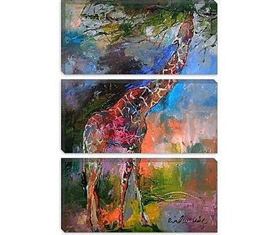 iCanvas 'Giraffe' by Richard Wallich Painting Print on Canvas; 40'' H x 26'' W x 0.75'' D