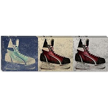 iCanvas Canada Hockey Ice Skates Panoramic Graphic Art on Canvas; 12'' H x 36'' W x 0.75'' D