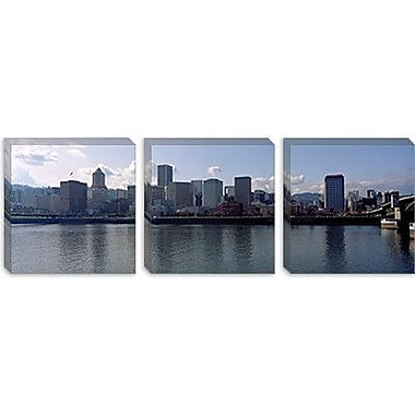 iCanvas Panoramic Skyscrapers along the River, Portland, Oregon Photographic Print on Canvas