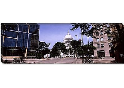 iCanvas Panoramic Wisconsin State Capitol, Madison, Wisconsin Photographic Print on Canvas
