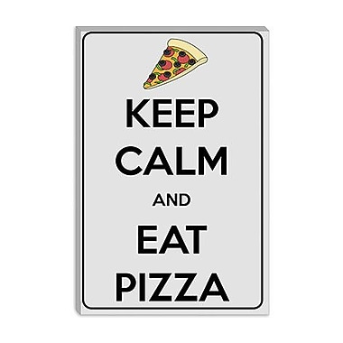 iCanvas Keep Calm and Eat Pizza Graphic Art on Canvas; 40'' H x 26'' W x 0.75'' D