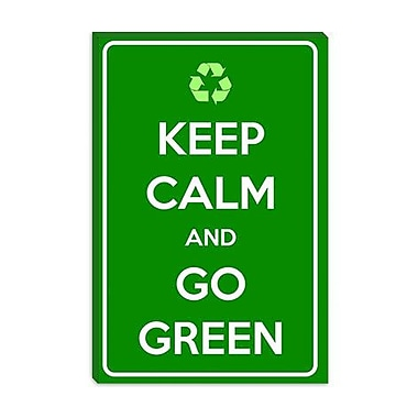 iCanvas Keep Calm and Go Green Textual Art on Canvas; 26'' H x 18'' W x 0.75'' D