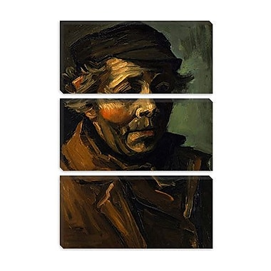 iCanvas 'Head of a Peasant' by Vincent Van Gogh Painting Print on Canvas; 26'' H x 18'' W x 0.75'' D