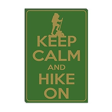 iCanvas Keep Calm and Hike on Graphic Art on Canvas; 60'' H x 40'' W x 1.5'' D