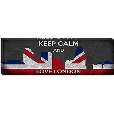 iCanvas Keep Calm and Love London Graphic Art on Canvas; 16'' H x 48'' W x 1.5'' D